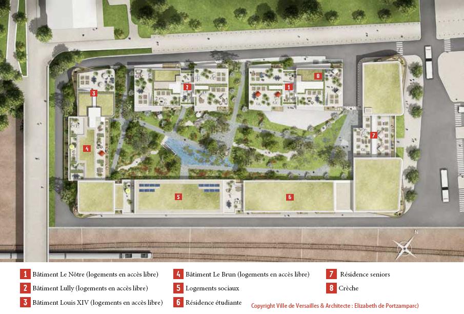 Vue de l'aménagement du quartier Versailles-Chantiers