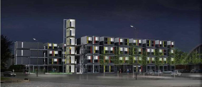 Le logement tudiant insolite dans un container - Logement insolite amsterdam ...