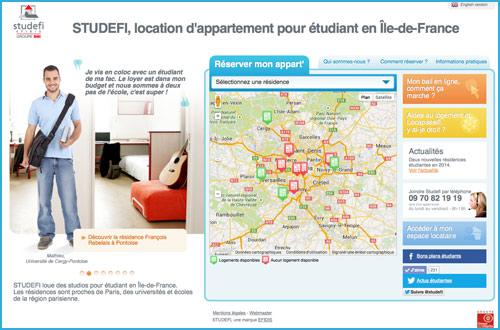 Studefi location d 39 appartement pour tudiant en le de france for Location de chambre pour etudiant